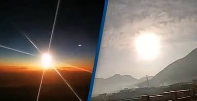 Giant Meteor Fireball Filmed Falling From The Sky In China
