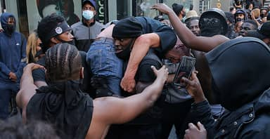 Black Lives Matter Demonstrator Rescuing Counter-Protester Voted 2020's Most Inspiring Moment