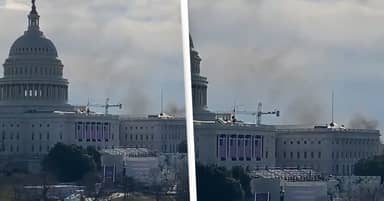US Capitol Put On Lockdown As Fire Reported Nearby