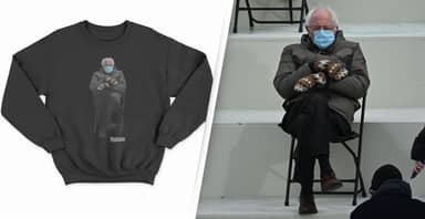 Bernie Sanders Turns Inauguration Meme Into Sweatshirt To Raise Money For Charity