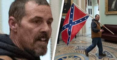 Man Who Carried Confederate Flag Into US Capitol Arrested