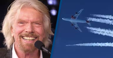 Richard Branson Successfully Launches Virgin Rocket From 747 Passenger Plane