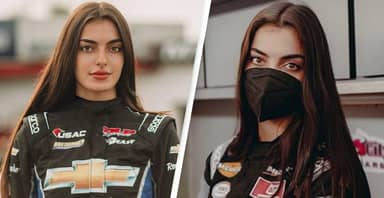 NASCAR's First Arab American Female Driver Just Made Her Debut
