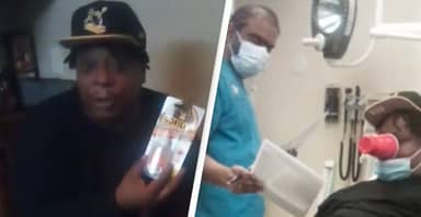 Man In ER After Gluing Cup To Face To Prove Gorilla Glue Girl Was Lying