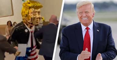 Golden Donald Trump Statue Unveiled At Conservative Conference