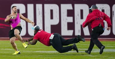 Streaker Goes On Wild Run Down The Field At Super Bowl LV