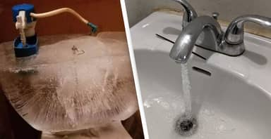 American Toilets And Sinks Are Freezing Over In Brutal Cold Snap