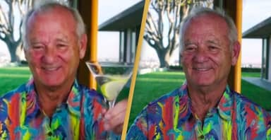 Bill Murray Wore A Hawaiian Shirt To The Golden Globes And People Are Loving It