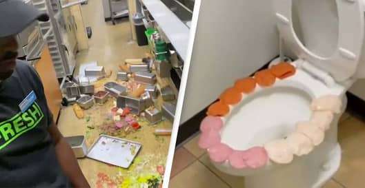 Subway Employee Fired After Putting Ingredients On Toilet Seat In Viral Video