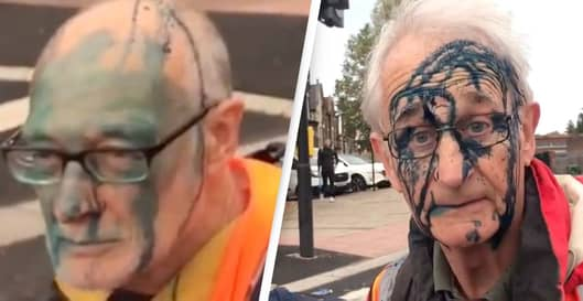 Insulate Britain Protesters Have Ink Thrown In Their Faces Amid Motorway Chaos