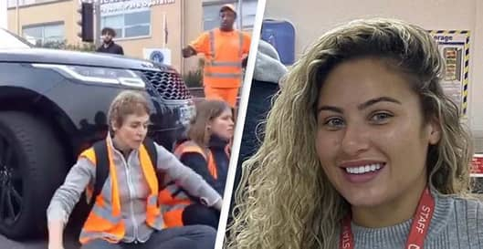 Woman Who Started To Drive Over Insulate Britain Protesters Speaks Out