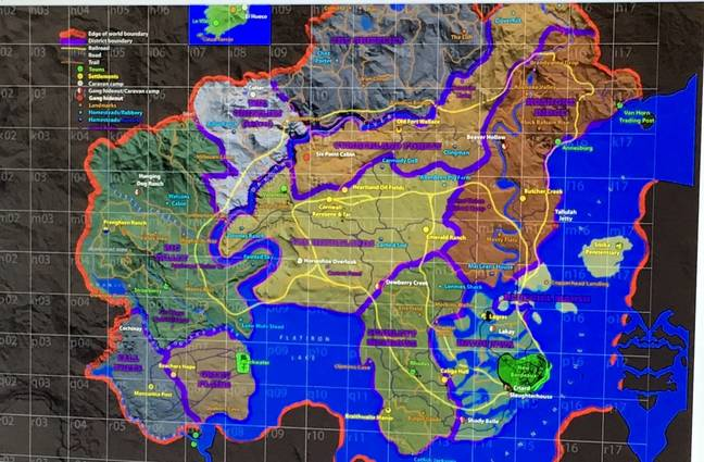 Red Dead map leak