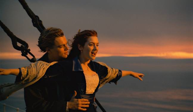 jack and rose in the titanic film