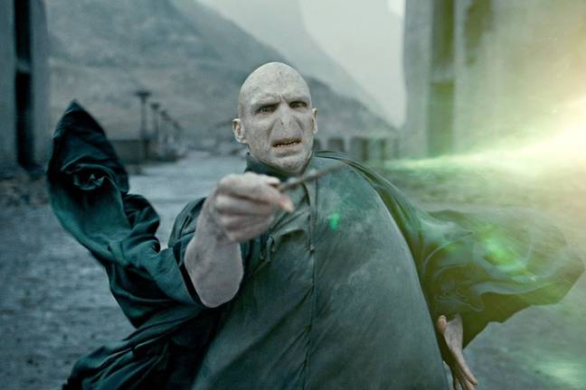 Lord Voldemort played by Ralph Fiennes