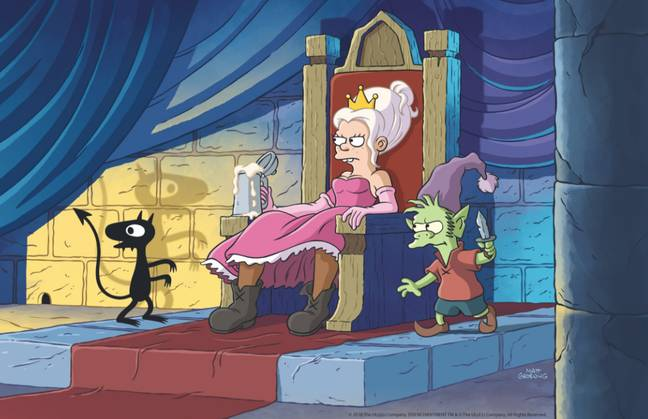 image from Disenchantment, the new show from Simpsons and Futurama creator Matt Groening