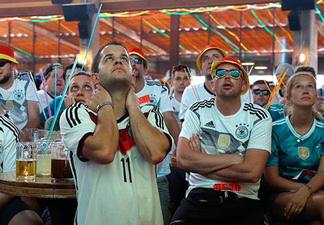 German fans after Mexico game.