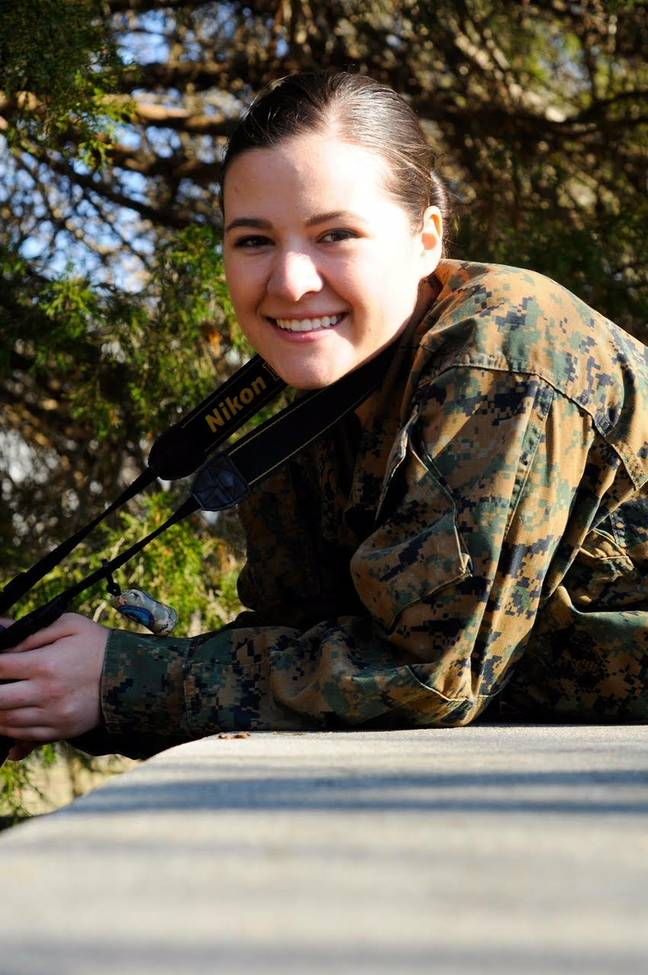Elizabeth Yozamp, the kid from Step Brothers, in the marines as combat photographer
