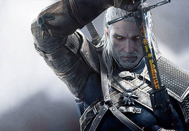 Shot from the The Witcher video game