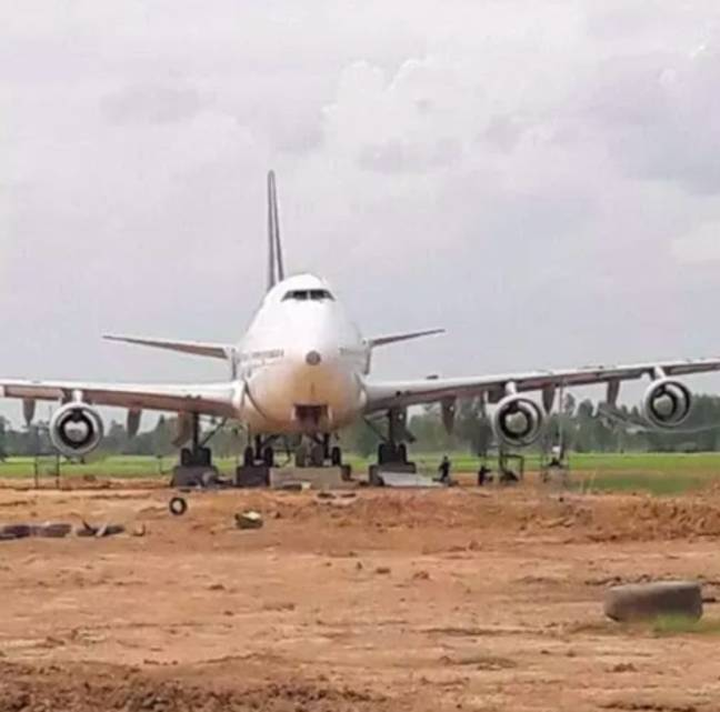 Man buys decommissioned plane at auction.