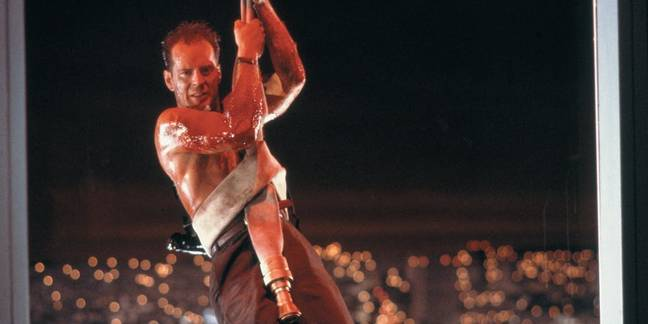 Bruce Wiillis as John McClane after god answers his prayers