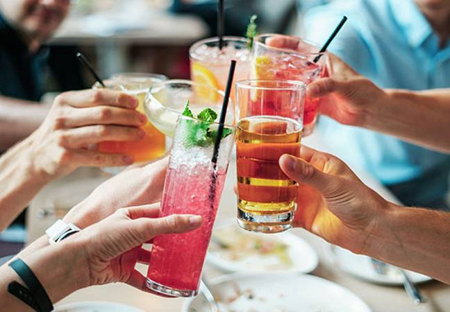 a round of drinks