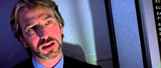 Hans Gruber as Bill Clay played by Alan Rickman