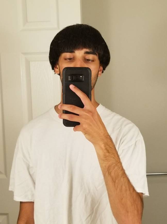 Guy who's bowl cut went wrong