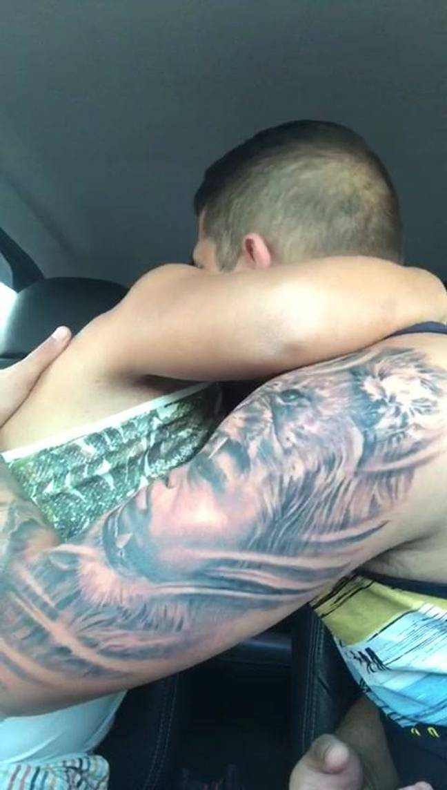 Brother shows off new tattoo.