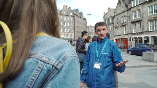 Homeless Tour Guides working in Edinburgh