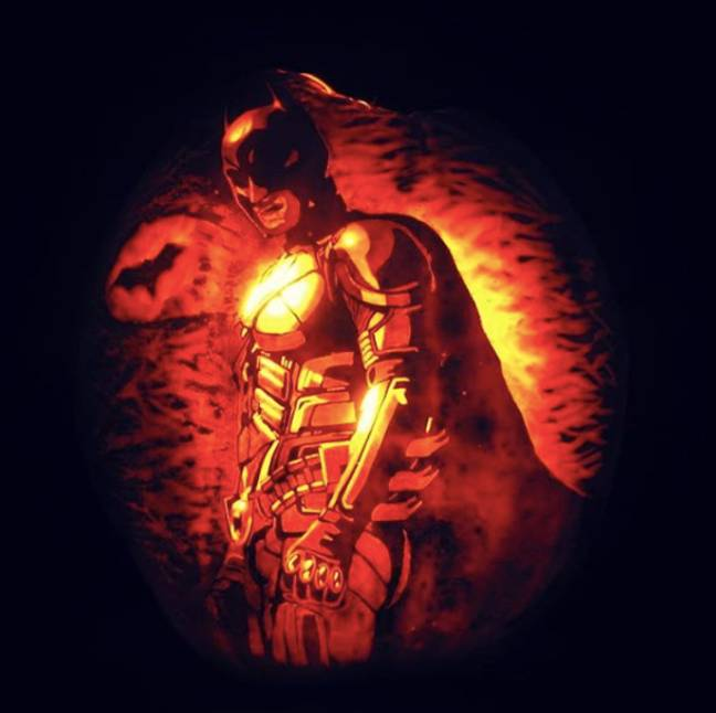 batman the dark knight pumpkin