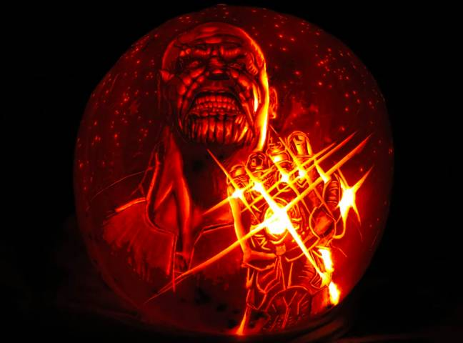 andy manoloff pumpkin thanos