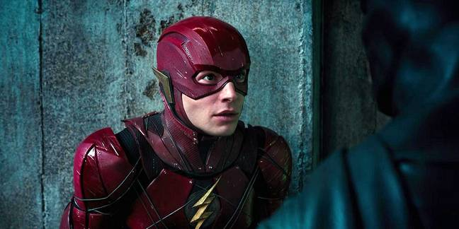 The Flash played by Ezra Miller