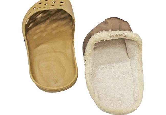 Shoe shaped beds for dogs