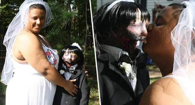woman marries zombie doll