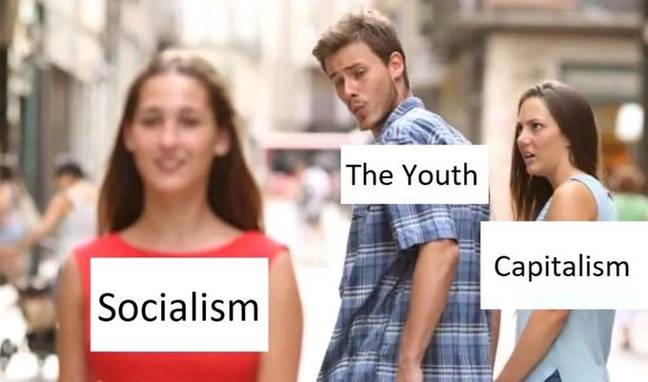 distracted boyfriend youth socialism capitalism