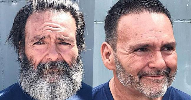 Hairdresser transforms homeless people