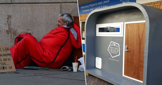 Charity makes shelters for homeless people