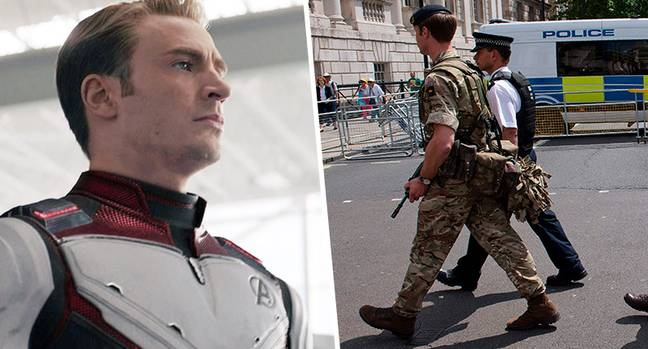 Soldier arrested for watching Endgame