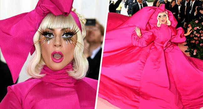 Lady Gaga wows Met Gala with incredible strip show.