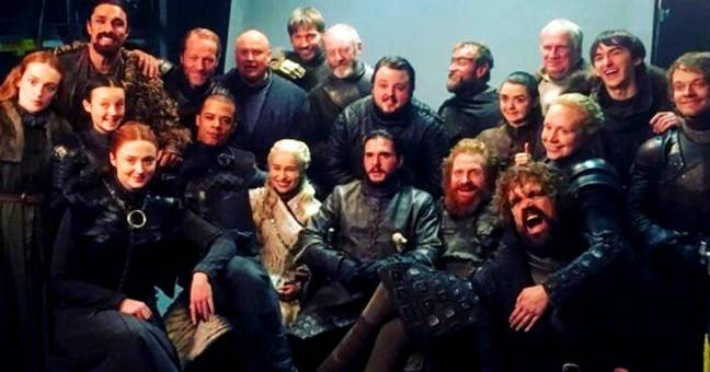 Cast of Game of Thrones say goodbye.
