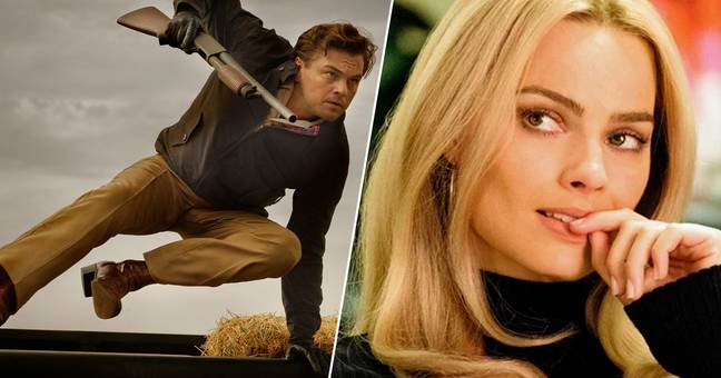 leonardo dicaprio and margot robbie in One Upon A Time In... Hollywood