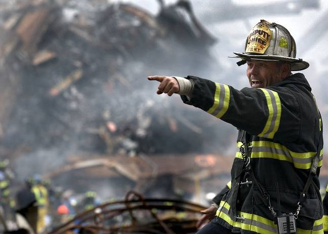 Firefighter at World Trade Centre