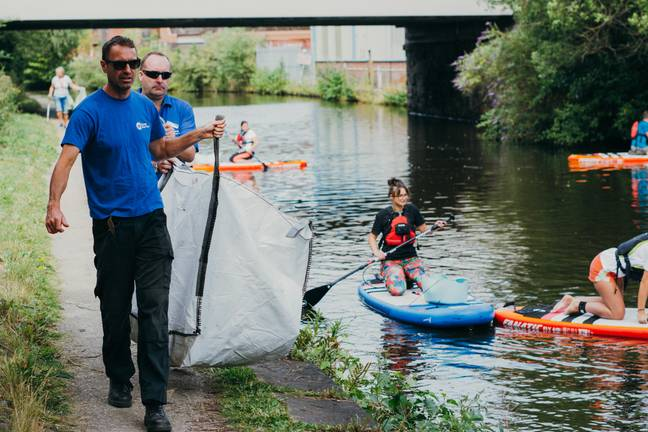 Volunteers cleaning up environment with Plastic Patrol