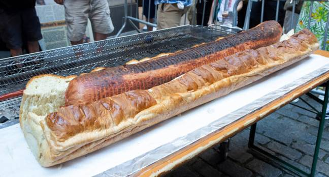 New 66lb Hot Dog About To Enter Guinness World Records
