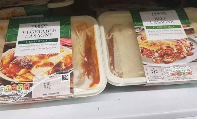 Prankster swaps labels on meat and veg meals
