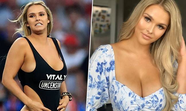 Model Invaded Pitch At Champions League Final To Advertise Her Boyfriend's Porn Website
