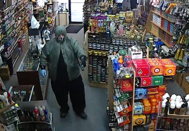 man attempts to rob store