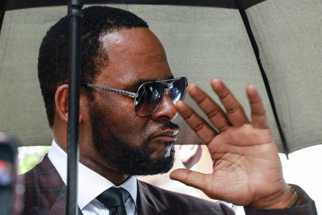 R Kelly outside court (PA Images)