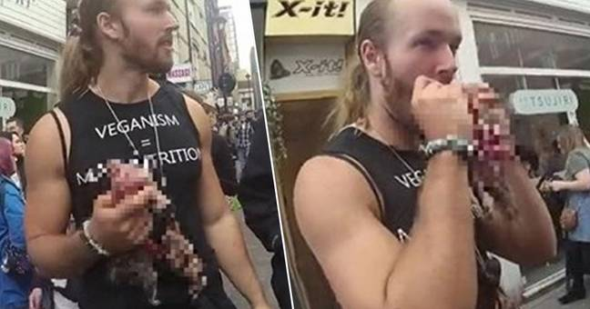 Pro meat protester fined for eating raw squirrel