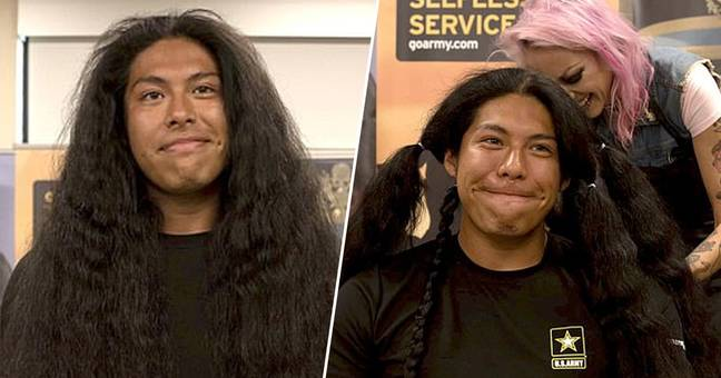 Guy Gets First Haircut In 15 Years So He Can Join Military